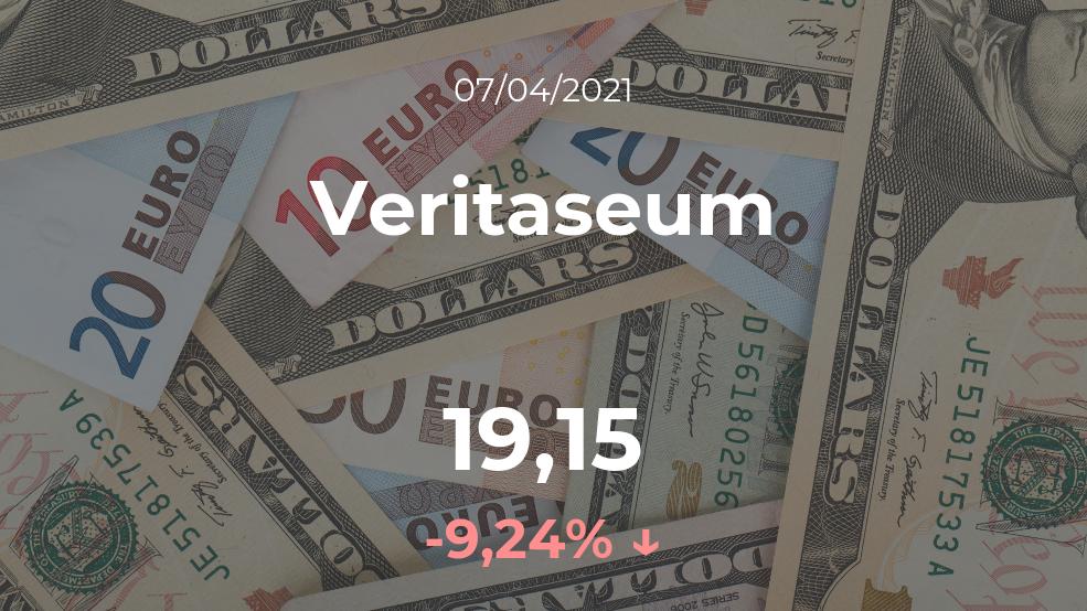 Cotización del Veritaseum del 7 de abril