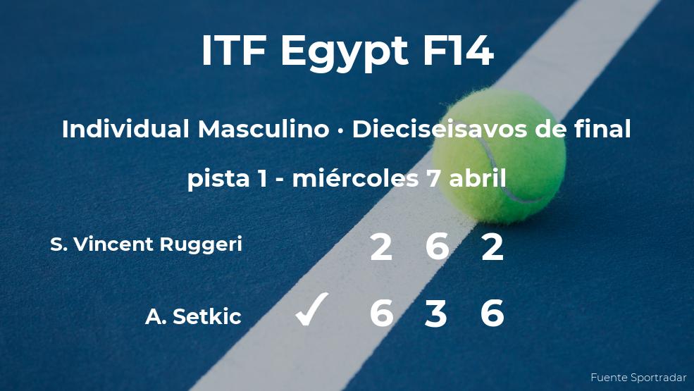 El tenista Aldin Setkic pasa a los octavos de final del torneo de Sharm El Sheikh