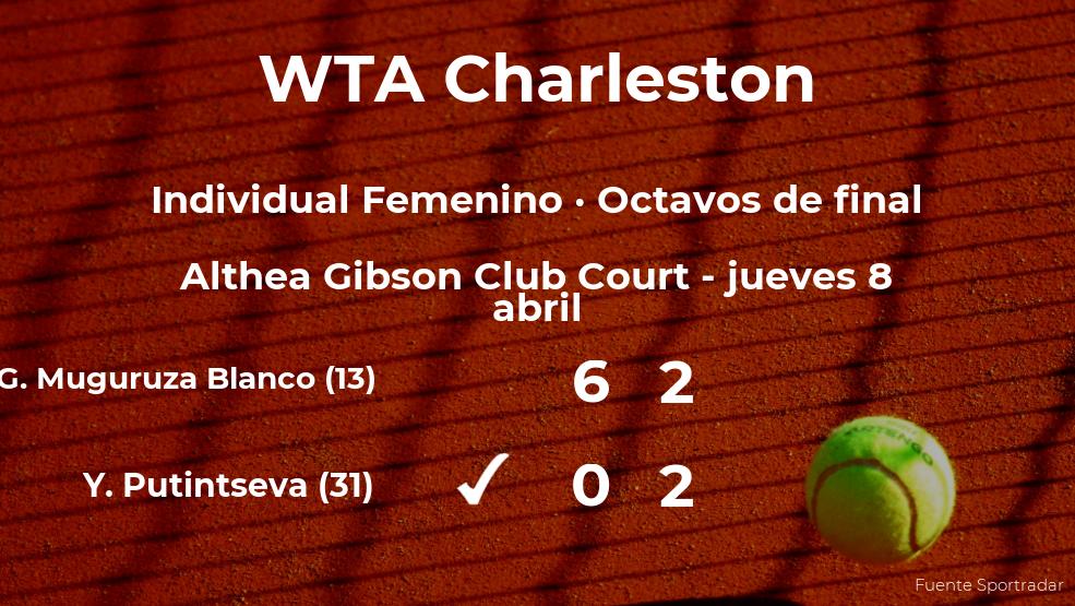 La tenista Yulia Putintseva se impone los octavos de final del torneo WTA 500 de Charleston a pesar de los pronósticos en contra
