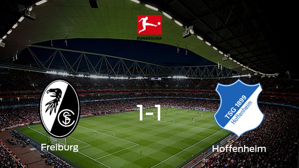 Así es cómo fue el duelo de SC Freiburg con Hoffenheim (1-1)