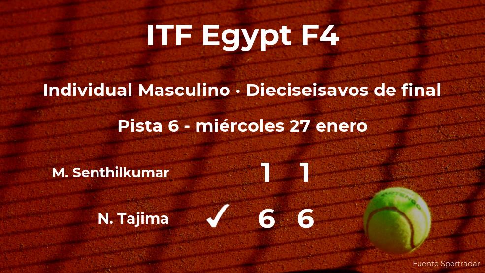 El tenista Naoki Tajima logra clasificarse para los octavos de final a costa de Muthu Aadhitiya Senthilkumar