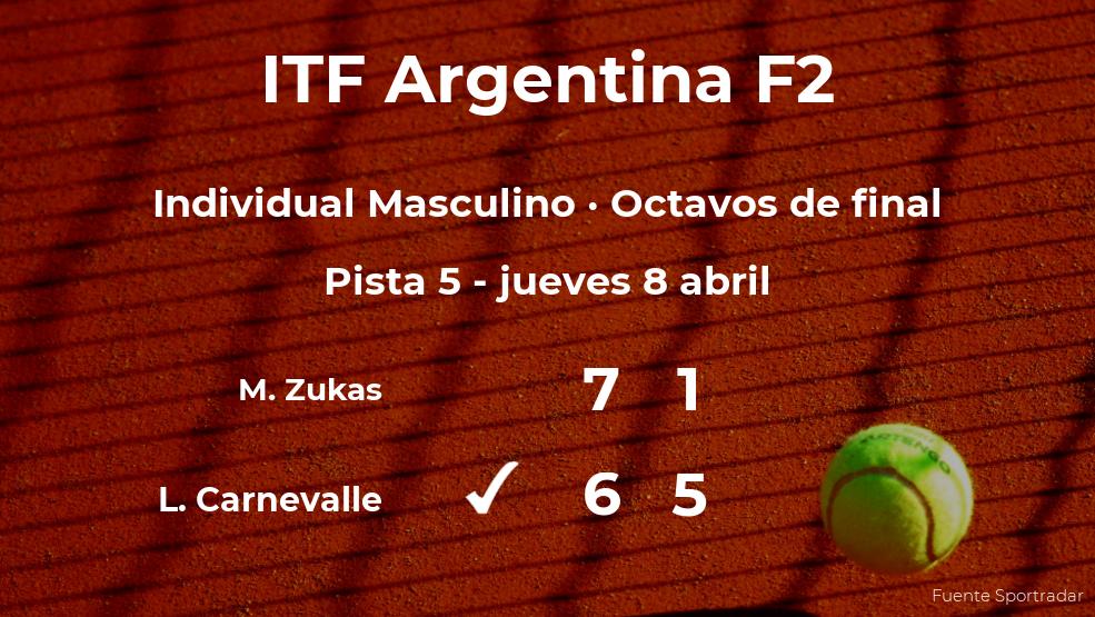 Lucio Carnevalle se impone los octavos de final del torneo de Córdoba a pesar de los pronósticos en contra