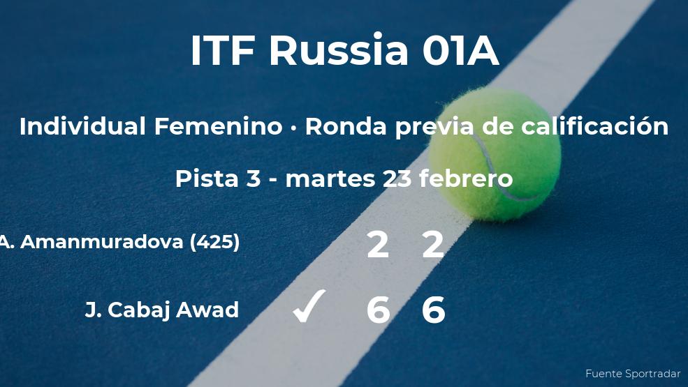 La tenista Jacqueline Cabaj Awad pasa de ronda del torneo de Moscú