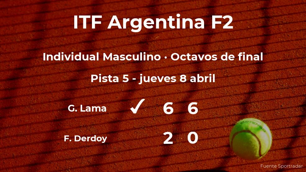 Gonzalo Lama vence en los octavos de final del torneo de Córdoba