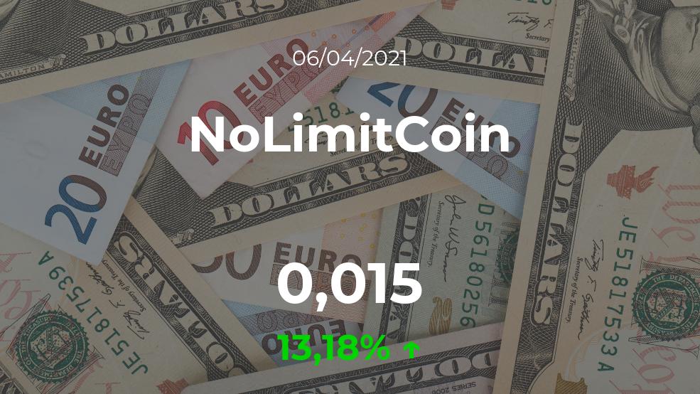 Cotización del NoLimitCoin del 6 de abril