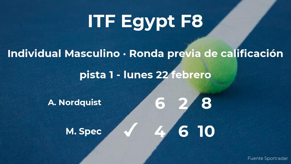 El tenista Matic Spec consigue la plaza para la siguiente fase tras ganar en la ronda previa de calificación