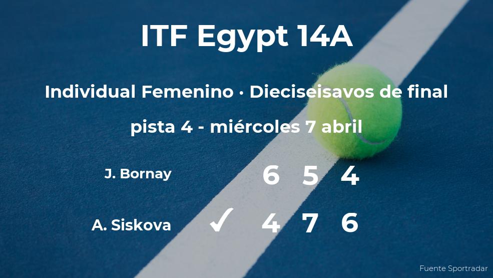 La tenista Anna Siskova pasa a los octavos de final del torneo de Sharm El Sheikh