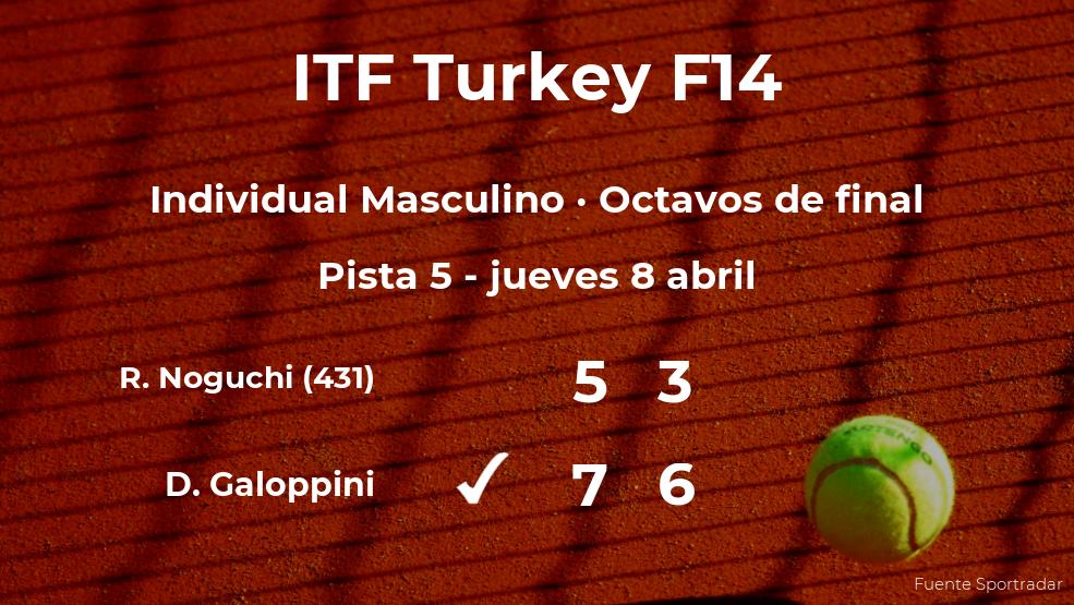 El tenista Davide Galoppini, clasificado para los cuartos de final del torneo de Antalya