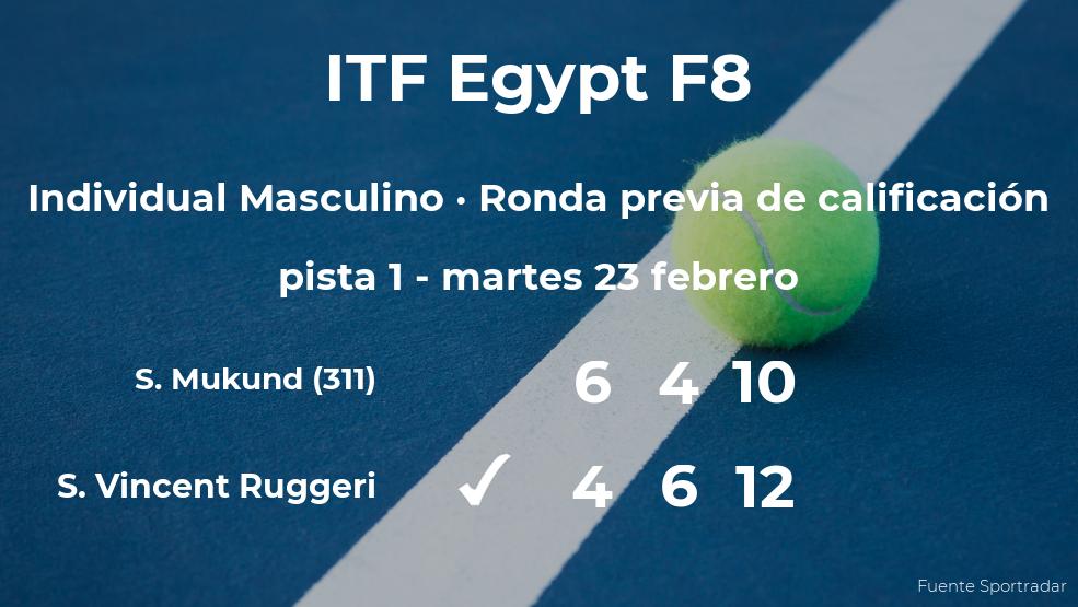 Victoria para el tenista Samuel Vincent Ruggeri en la ronda previa de calificación