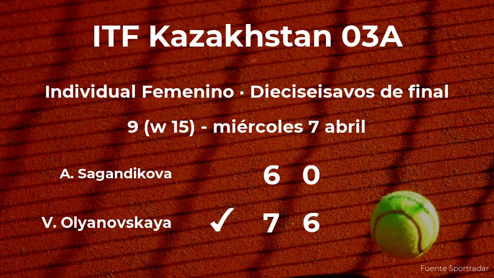 Valeriya Olyanovskaya estará en los octavos de final del torneo de Shymkent