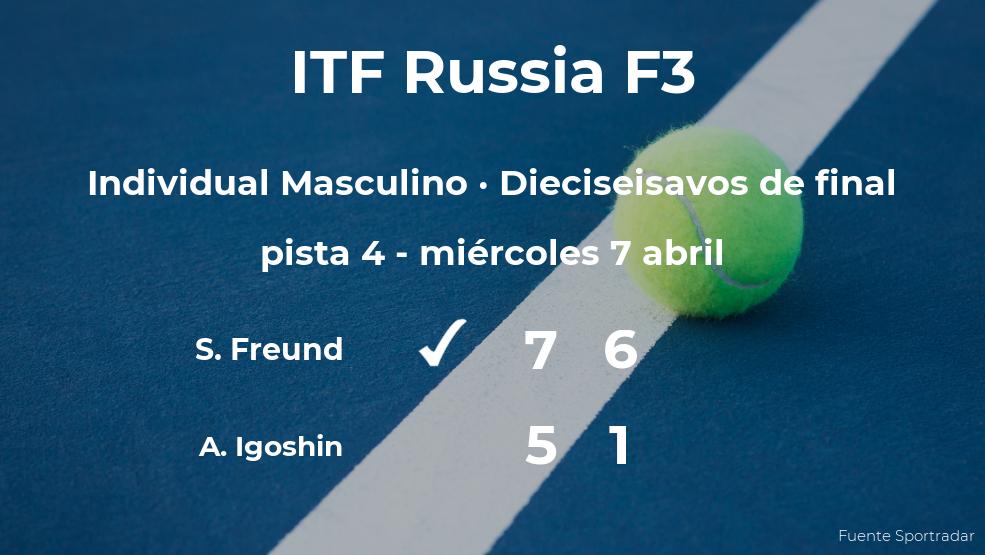 El tenista Simon Freund, clasificado para los octavos de final del torneo ITF Russia F3