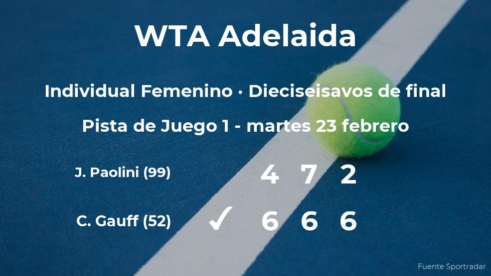 La tenista Cori Gauff logra clasificarse para los octavos de final a costa de Jasmine Paolini