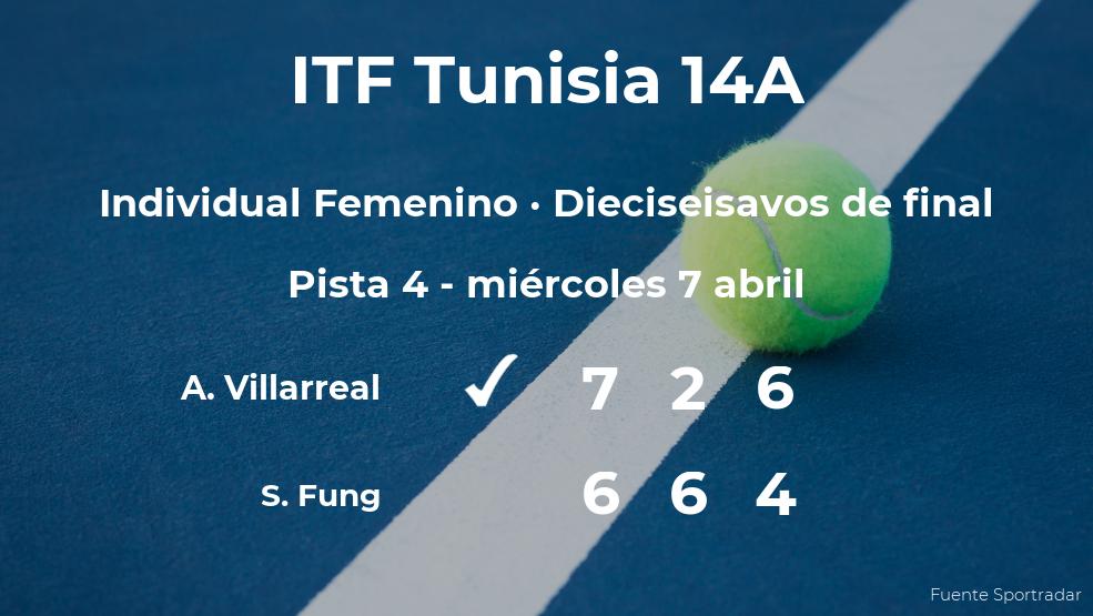 La tenista Andrea Renee Villarreal pasa a la próxima ronda del torneo de Monastir tras vencer en los dieciseisavos de final