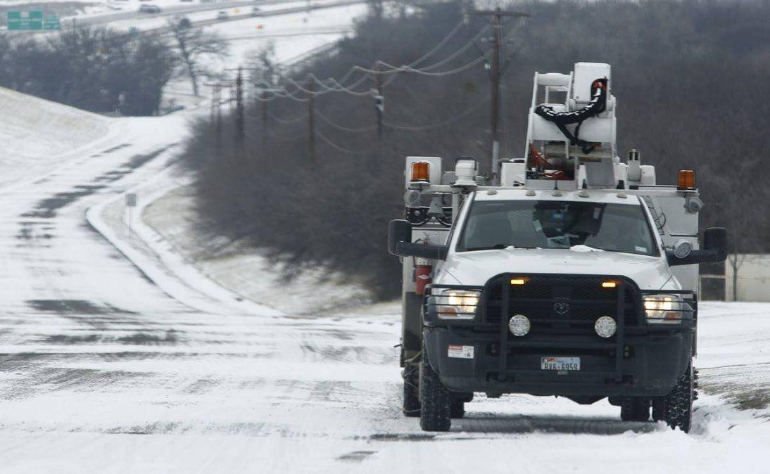 La tormenta invernal sigue afectando a Texas. Foto cortesía